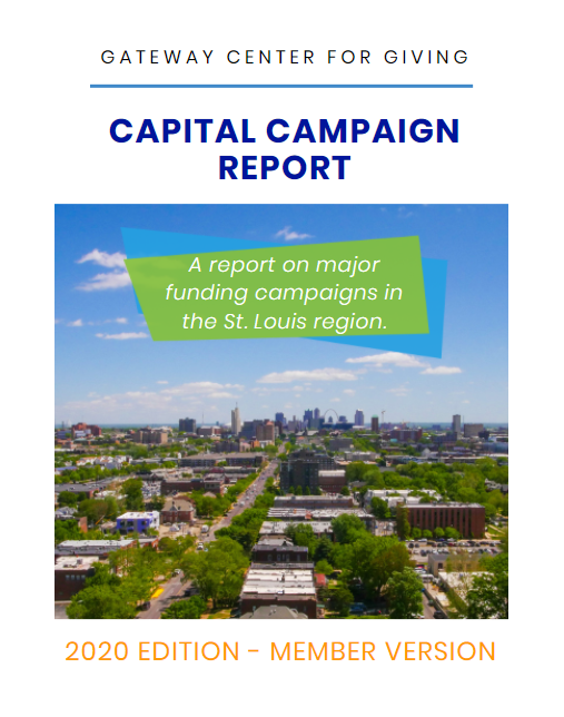 Cover of the Capital Campaign Report - 2020 Edition