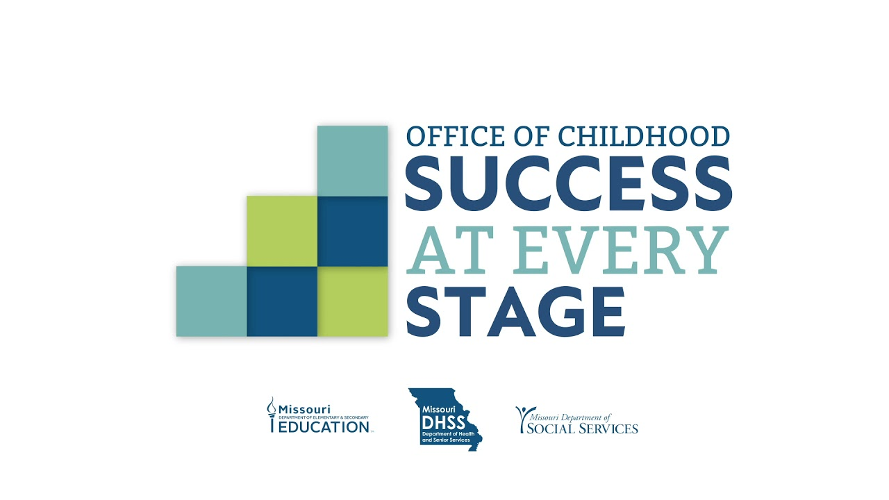 Office of Childhood Logo with Green and Blue Blocks