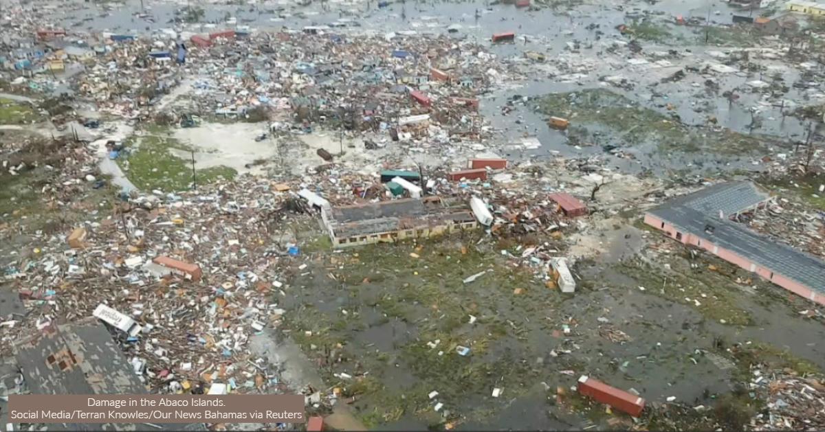 Photo of damage from Hurricane Dorian
